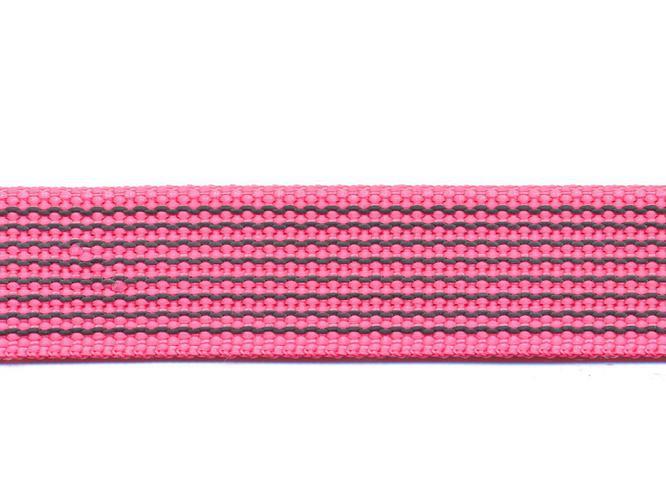 Antiglid koppel/lina 20 mm utan handtag, rosa