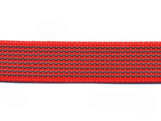 Antiglid koppel/lina 20 mm utan handtag, röd