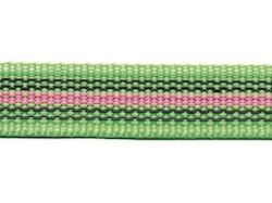 Antiglid koppel/lina 20 mm utan handtag, grön/rosa