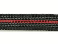 Antiglid koppel/lina 20 mm utan handtag, svart/röd