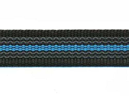 Antiglid koppel/lina 20 mm utan handtag, svart/blå