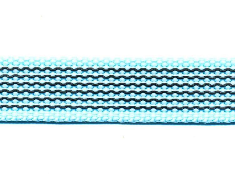 Antiglid koppel/lina 20 mm utan handtag, ljusblå