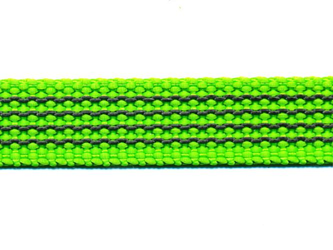 Antiglid koppel/lina 20 mm utan handtag, limegrön/svart