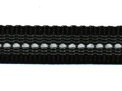Antiglid koppel/lina 20 mm utan handtag, svart/reflex