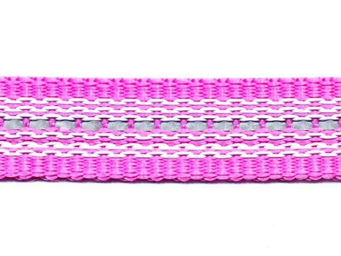 Antiglid koppel/lina 20 mm utan handtag, rosa/reflex