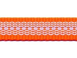 Antiglid koppel/lina 20 mm utan handtag, orange/reflex