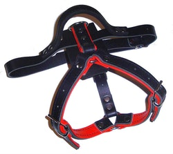 K9-Sport Lädersele, röd