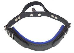 Hetshalsband med handtag, Royalblå