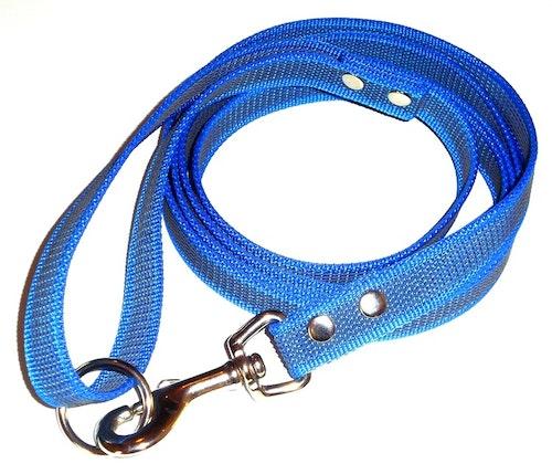 Antiglid koppel med handtag, azurblå/svart