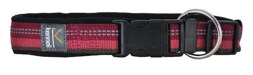 Ställbart reflexhalsband, neoprenfodrat, rosa