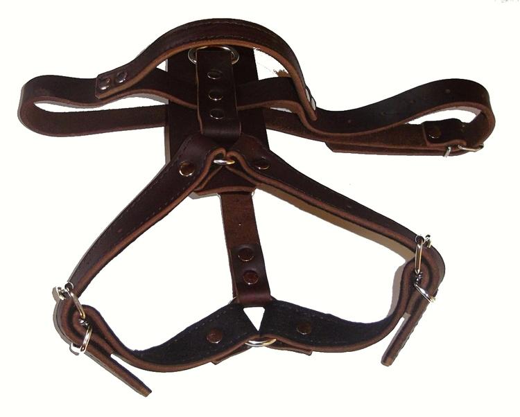 K9-Sport Lädersele, mörkbrunt läder