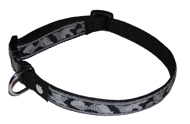 "Ställbart halsband ""vinter camouflage"" 25mm brett"
