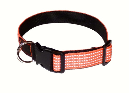 Reflexhalsband med snabblås, orange