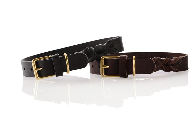 HUNTER Sansibar Solid Hundhalsband Mörkbrun/Messing