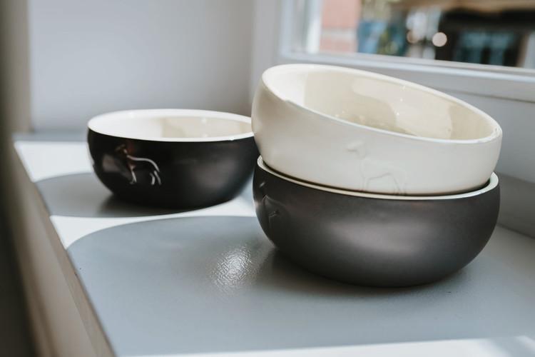 HUNTER Lund Matskål Keramik Svart