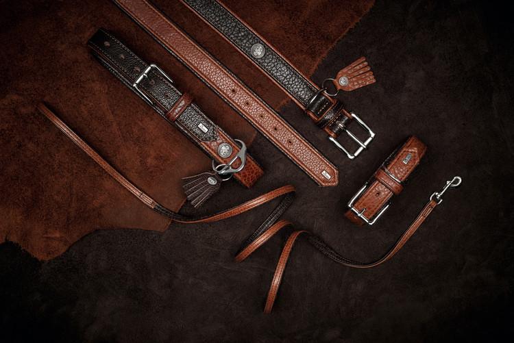 HUNTER Cody Comfort Hundhalsband Cognac/Mörkbrun