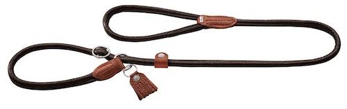 HUNTER Cody Round & Soft Retriever Koppel Mörkbrun 120cm