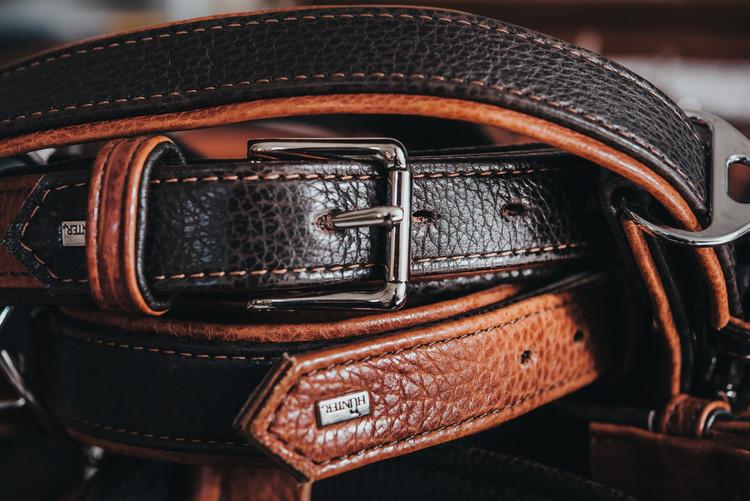 HUNTER Cody Special Hundhalsband Cognac/Mörkbrun