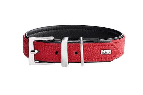HUNTER Hundhalsband Vega Konstläder Röd