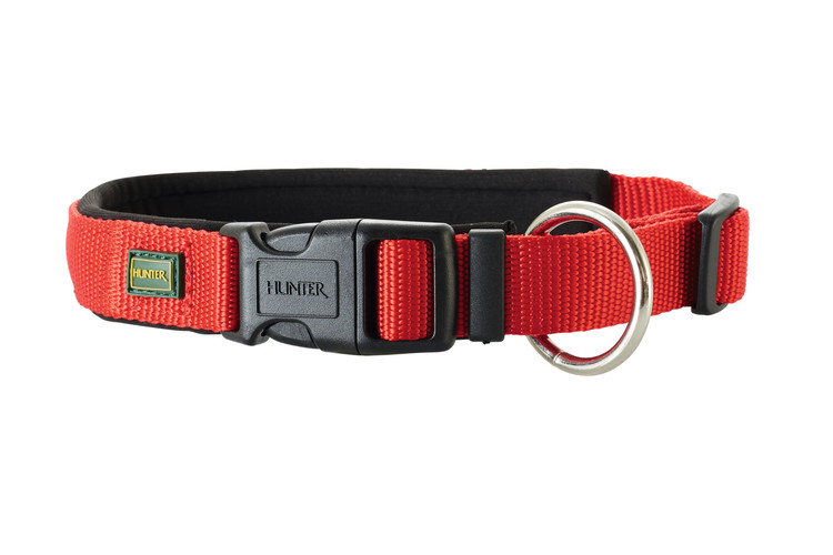 HUNTER Neopren Vario Plus Halsband Röd