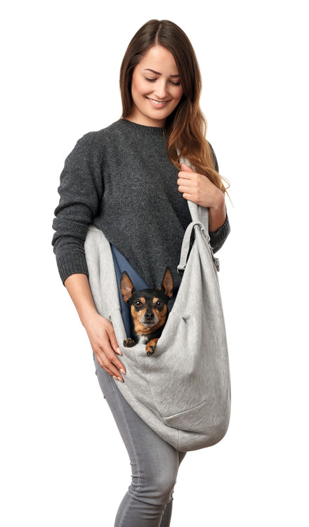 HUNTER Bärväska Hund Los Angeles Bärsele Grå/Blå