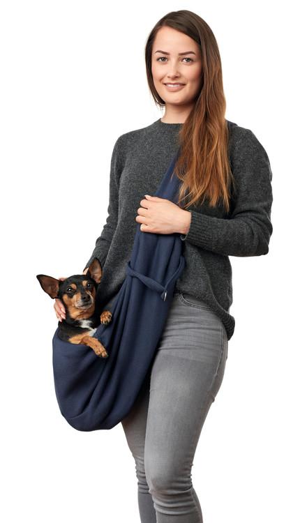 HUNTER Bärväska Hund Los Angeles Bärsele Mörkblå
