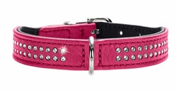 HUNTER Hundhalsband Diamond Petit Pink