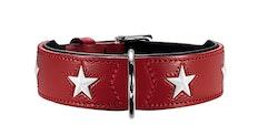 HUNTER Hundhalsband Magic Star Röd Ekologiskt Läder