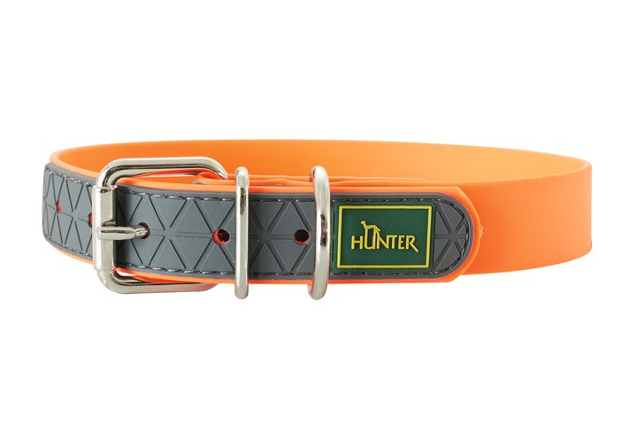 HUNTER Hundhalsband Convenience Orange Neon