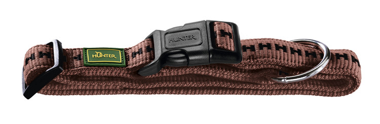 HUNTER Hundhalsband Power Grip Brun