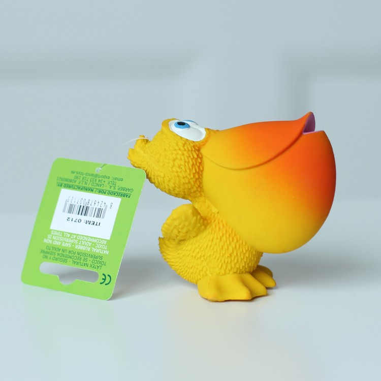 Latexleksak Pelikan Lanco - Giftfria Pipleksaker 8cm