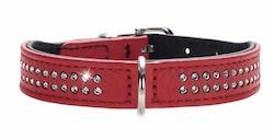 HUNTER Hundhalsband Diamond Petit Röd