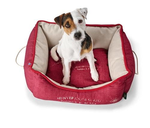 HUNTER List Hundbädd Röd