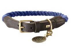HUNTER Hundhalsband List Mörkblå/Messing