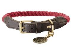 HUNTER Hundhalsband List Röd/Messing