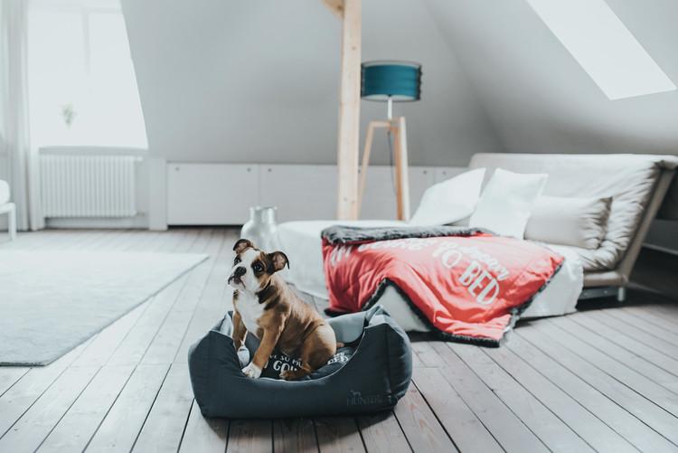 HUNTER Keitum Hundbädd Antracit/Ljusgrå