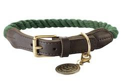 HUNTER Hundhalsband List Grön/Messing