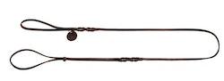 HUNTER Utställningskoppel Solid Education Oxläder Mörkbrun 180cm