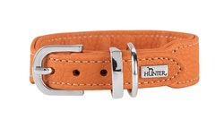 HUNTER Cannes Mini Hundhalsband Kalvläder Orange