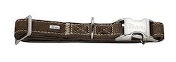 HUNTER Hunting Halsband Alu-Strong Nubuckläder Brun