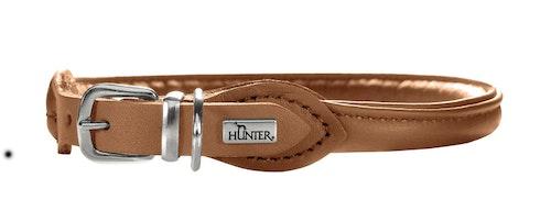 HUNTER Elk Petit Round & Soft Halsband Cognac