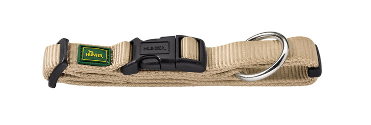 HUNTER Vario Nylon Halsband Beige