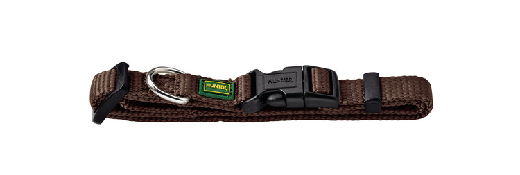 HUNTER Vario Nylon Halsband Brun