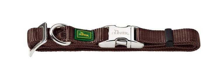 HUNTER Vario Alu-Strong Nylon Halsband Brun