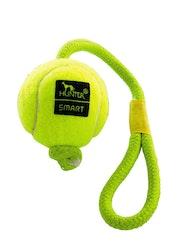 HUNTER Hundleksak Tennisboll med rep