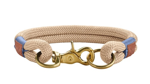 HUNTER Sansibar Rantum Hundhalsband Beige/Messing