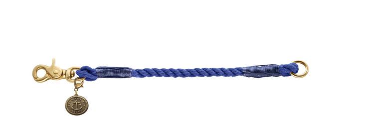 HUNTER List Hundhalsband Mörkblå/Messing