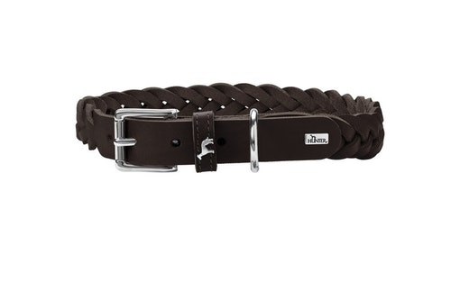 HUNTER Solid Education Special Halsband Mörkbrun