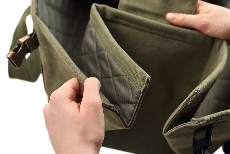 HUNTER Madison Stor Hundväska/Transportväska med filt Grön