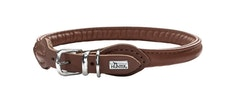 HUNTER Round & Soft Halsband Brun